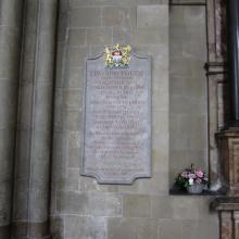Edward Youde memorial Canterbury Cathedral