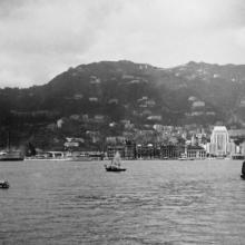View from Java-China-Japan Line m.s. Tjisadane arrving in Hong Kong, May 1937