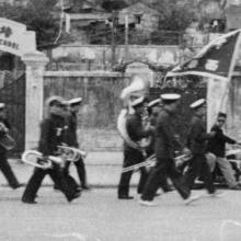 1949 Funeral Procession Passing By Pooi To Middle School