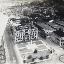 1930s Aerial view over Statue Square