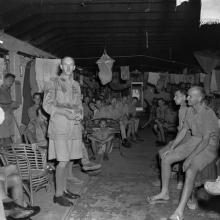 Canadian and British prisoners of war, liberated by the boarding party from HMCS Prince Robert, Hong Kong