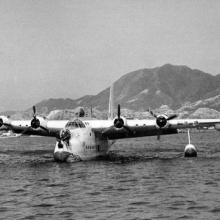 1955 Short Sunderland Flying Boat at Kowloon Bay