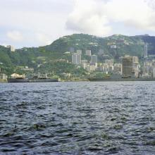 Peak and Mount Cameron from Victoria Harbour 1972