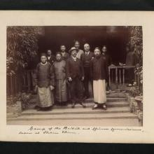 Group of the British and Chinese Commissioners, taken at Sham Chun.