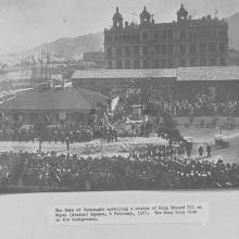 1907 The Duke of Connaught unveiling a statue of King Edward VII in Royal (Statue) Square