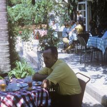 Dining at the Peak Cafe, 1969