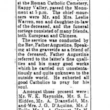 C E Warren's obituary (HK Telegraph)