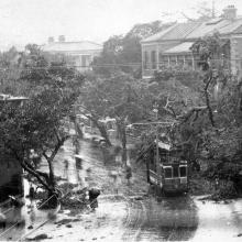 1923 Typhoon Tram Damage