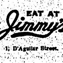 1933 Jimmy's Kitchen Advertisement