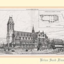 1880 Proposed R.C Cathedral Building Plan