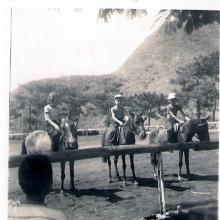 Brooks children at Horse Riding School 1953c Photo # 1
