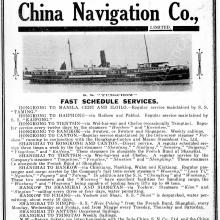 S.S. Tungchow, C.N.C. ( China Navigation Co. advertisement)