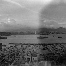 Causeway Bay Typhoon Shelter & view of Kowloon, 1979