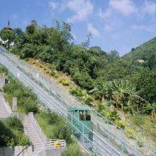 Mini funicular railway at Shatin