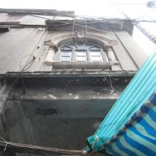 Looking up from street