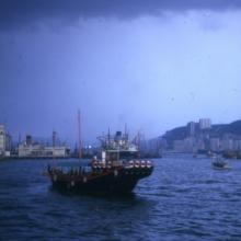 1966 View from Star Ferry pier towards Holt's Wharf