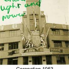 China Light and Power Company Limited decorated for 1953 Coronation