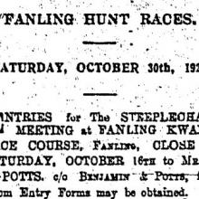Kwanti Race Course First Race Meeting