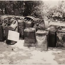 Fuel Cans from squatter fire 1950s