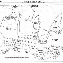 Victoria Harbour Map with Moorings 1921
