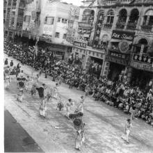 Coronation Parade 1953 Nathan Rd Ladies with banners