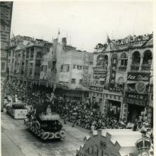 Coronation Parade 1953 Nathan Rd Floats drive past Majestic