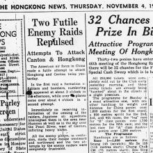 Air Raids on Hong Kong-November 1943