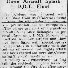 Royal Navy aircraft DDT spraying-SCMP 1946
