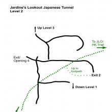 Map for Level 2, Jardine's Lookout Tunnel