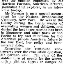 1941 July 28 Harrison Forman