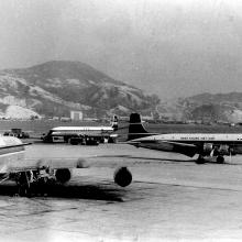 A Busy Day on old Kai Tak apron - 1965