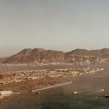 Kowloon peninsula from the air-1955