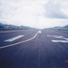 1998 Kai Tak Runway 13 looking in a south-easterly direction