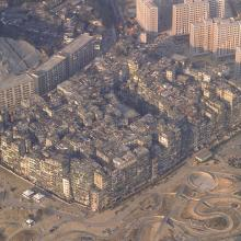 Kowloon Walled City - aerial view