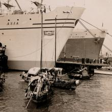 MV Asia and President Cleveland - Ocean/Sea Terminal Kowloon 1953/54