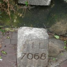 K. I. L. 7068 Marker Stone at Junction of Gascoigne and Nathan Roads