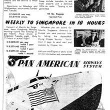 1941 Pan Am Flying Boat Advert