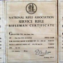 Riflemans Certificates