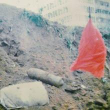 a japanese H.E. war dropped one outside Indian temple Kowloon