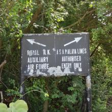 Forgotten Directional Sign of Shek Kong Camp