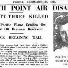 Cathay Pacific crash February 1949