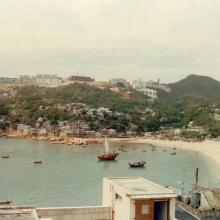 Stanley, HK late 1970s looking at Sea and Sky Ct. from central market area
