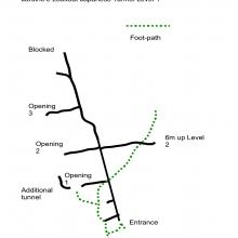 Tunnel Map, Jardine's Lookout, Level 1