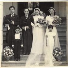 Grandparents wedding at the church nearby Nathan Road, 1937