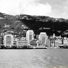 Hong Kong postcard from 1955