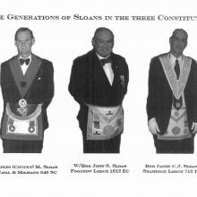 Three generations of Sloan men in Masonic regalia