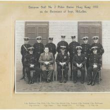 European Staff No.2 Police Station Hong Kong 1935 on the retirement of Inspt. McLellan