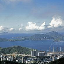 View from the peak on Aberdeen and Lamma Island