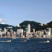 1982 - Wanchai waterfront from Tsim Sha Tsui