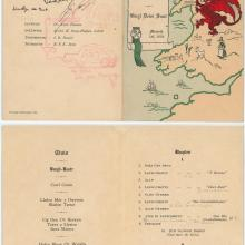 1950 St David's Day menu